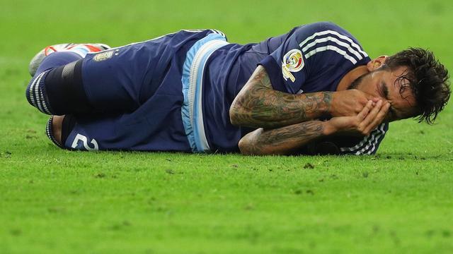 Lavezzi mist finale Copa America door breuk elleboog