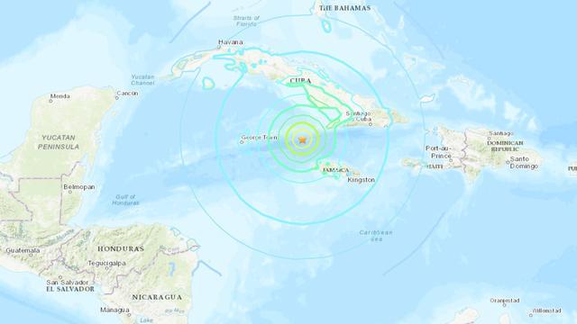Zeebeving tussen Cuba en Jamaica gevoeld tot in Miami, geen slachtoffers