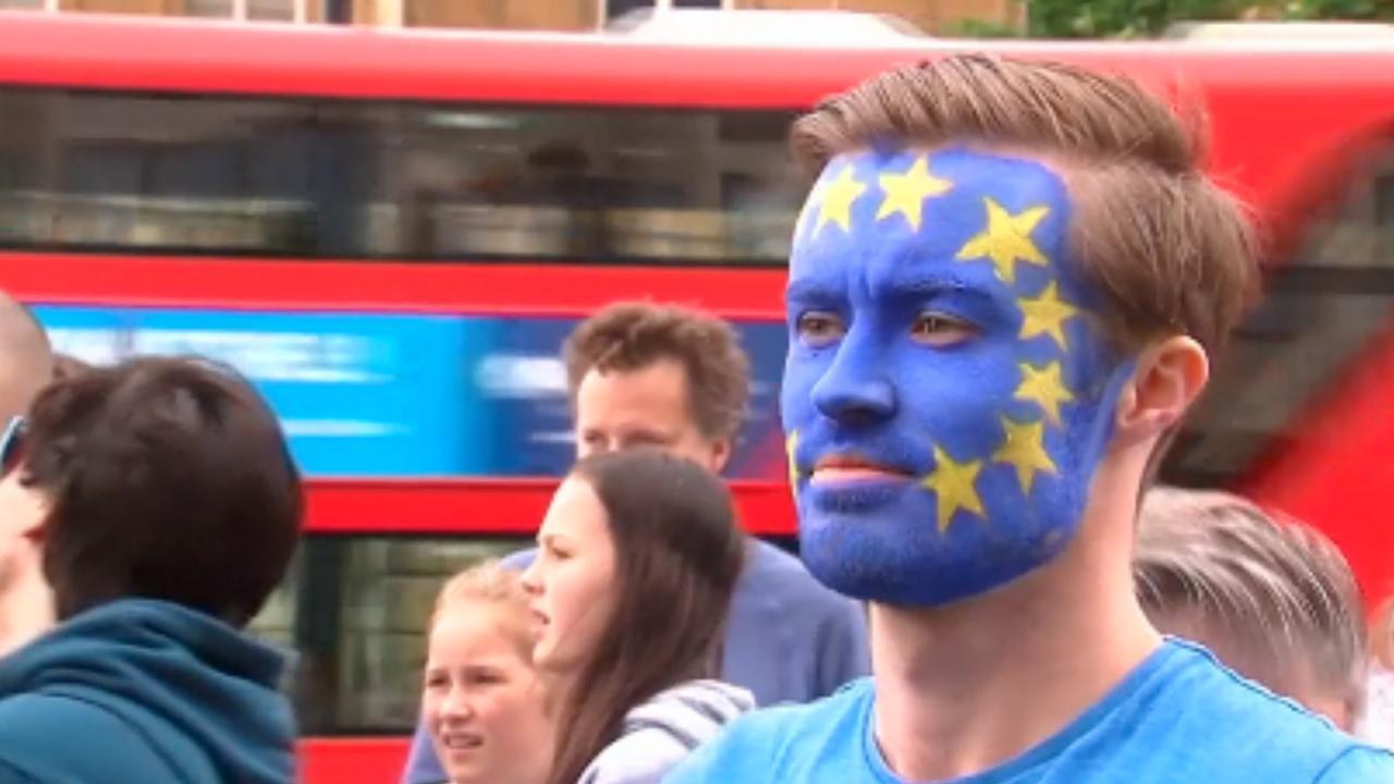 Duizenden Londenaren protesteren tegen Brexit