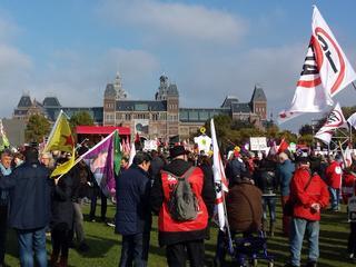 Manifestatie georganiseerd door onder andere Consumentenbond en Greenpeace