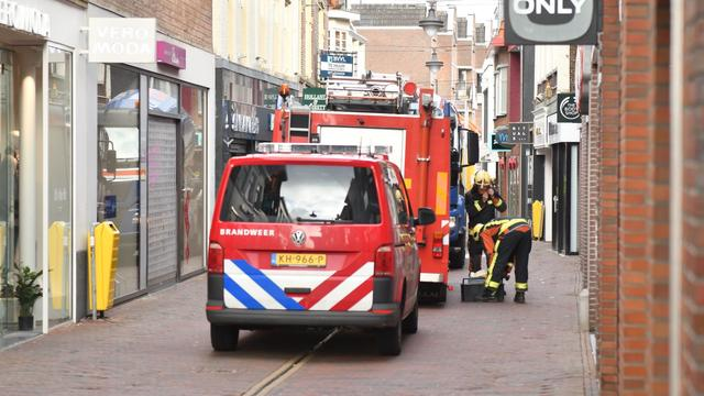 Winkelstraat korte tijd afgesloten in verband met gaslekkage