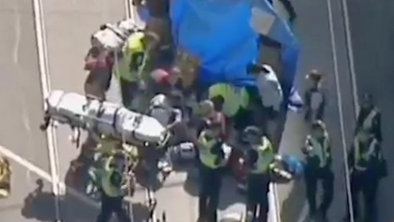 Eerste beelden na aanslag met auto in Melbourne