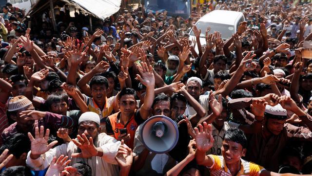 Rohingya's protesteren massaal tegen terugkeer naar Myanmar