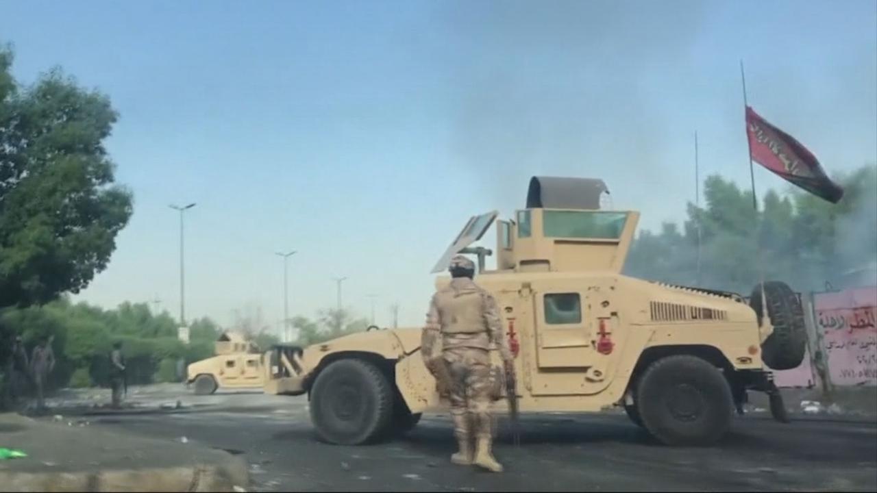 Zo ziet Bagdad eruit na de dodelijke protestnacht