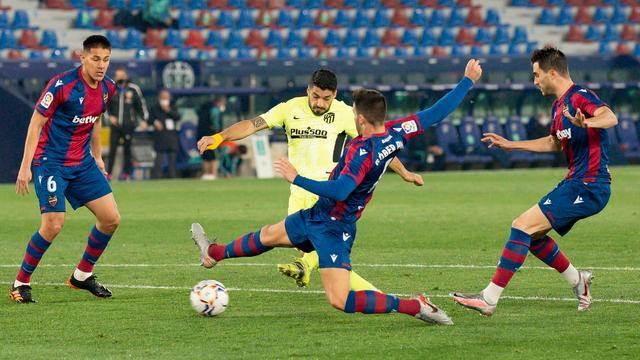Luis Suarez wist dit keer niet te scoren voor Atlético Madrid.