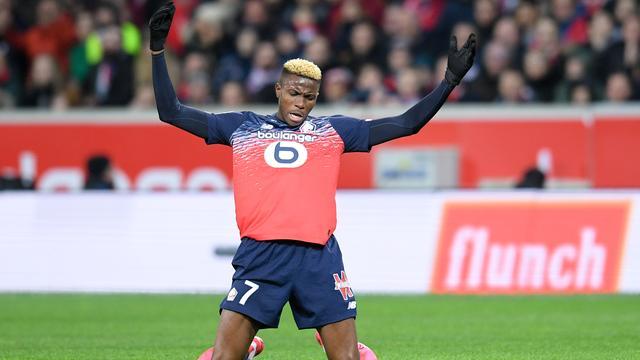 Napoli neemt aanvaller Osimhen voor 60 miljoen over van Lille