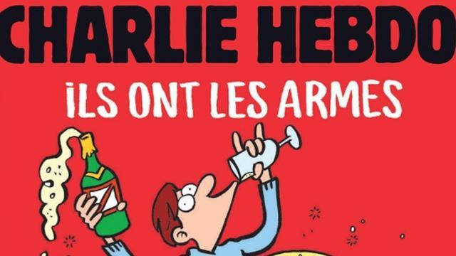 Charlie Hebdo reageert met striptekening op aanslagen Parijs