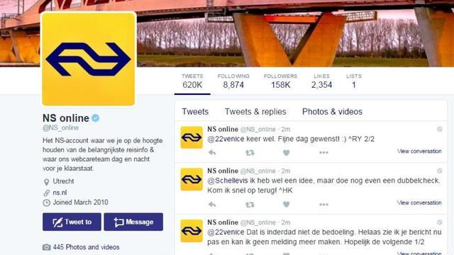 Hoe de NS de klachtenregen op social media in goede banen leidt