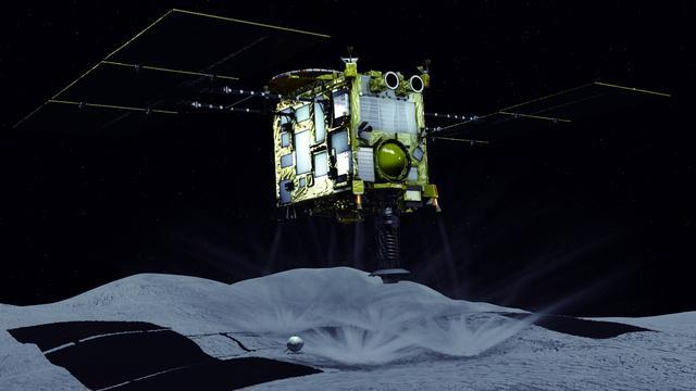 Japanse ruimtesonde brengt kort bezoek aan planetoïde