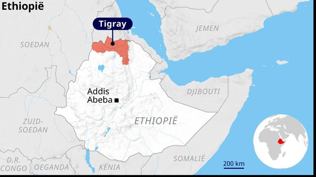 De regio Tigray in Ethiopië.