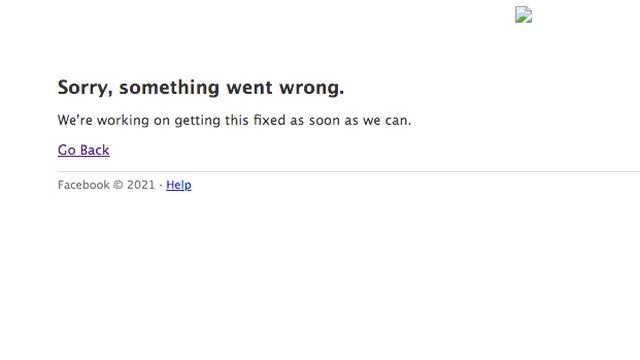 Bezoekers kregen deze foutmelding te zien als ze naar Facebook.com gingen.
