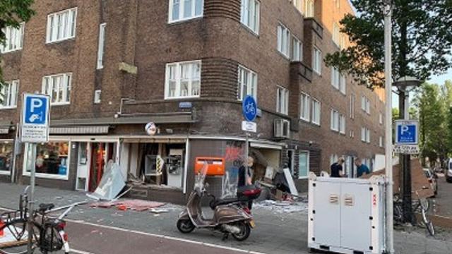 Plofkraak bij geldautomaat op Postjesweg, politie zoekt getuigen