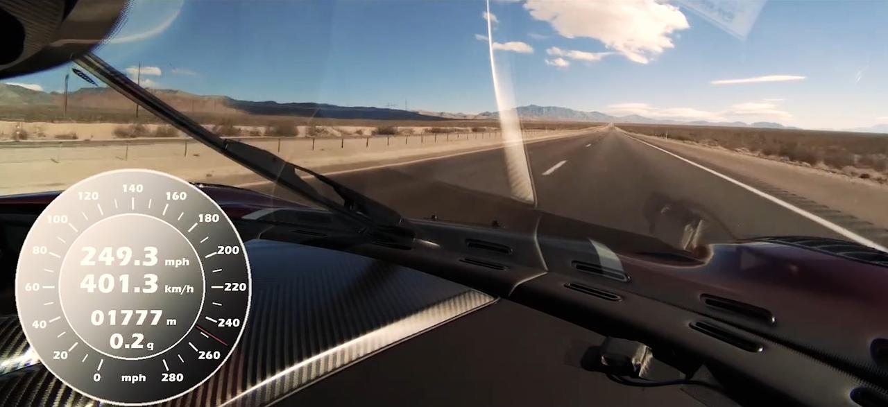 Koenigsegg Agera RS gaat van 0-400-0 in 33.29 seconden