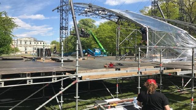 Opbouw Bevrijdingspop Haarlem op schema