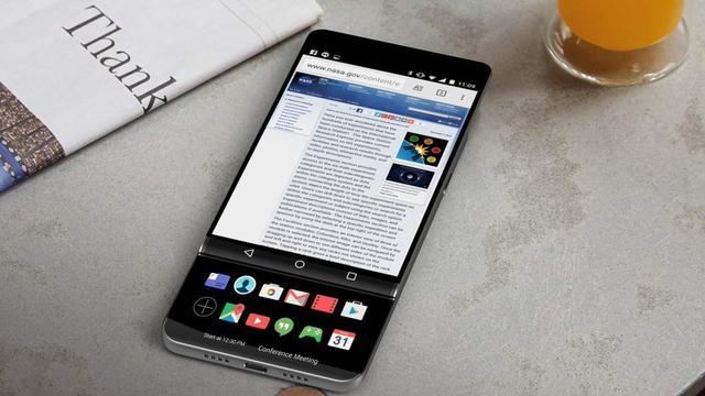 'LG overwoog smartphone met uitschuifbaar scherm'