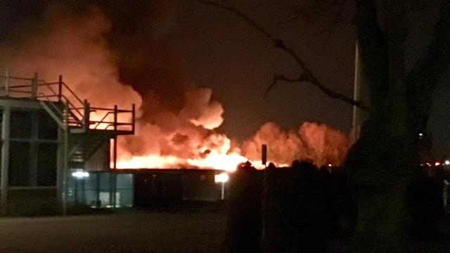 Grote brand in voormalige school Amersfoort