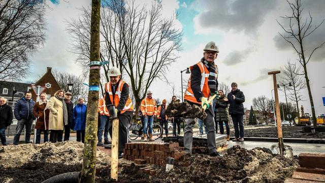 Wethouders planten boom langs Prins Bernhardlaan