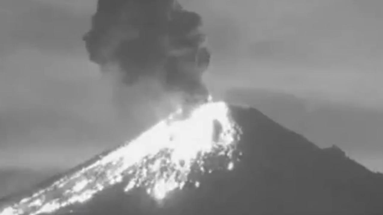 Vulkaan Popocatépetl in Mexico barst uit