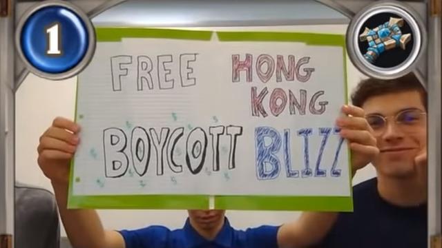 Drie Hearthstone-spelers geschorst voor tonen Hongkong-protestbord