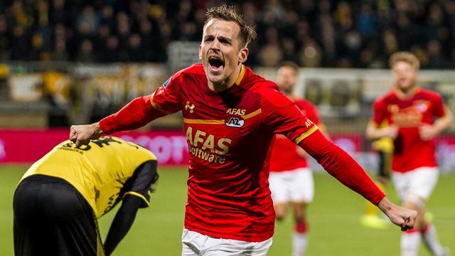 AZ boekt late uitzege op Roda JC, ADO thuis ruim langs Heracles