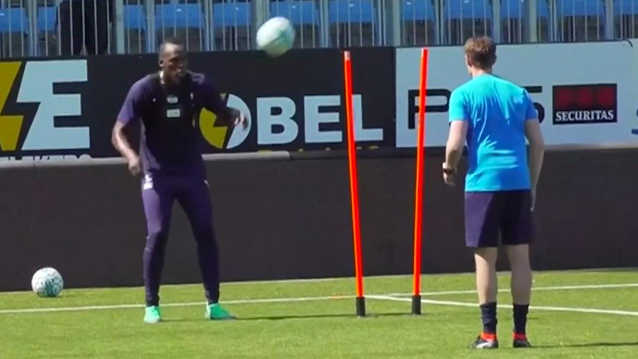 Usain Bolt ambieert voetbalcarrière en traint mee met Noorse club