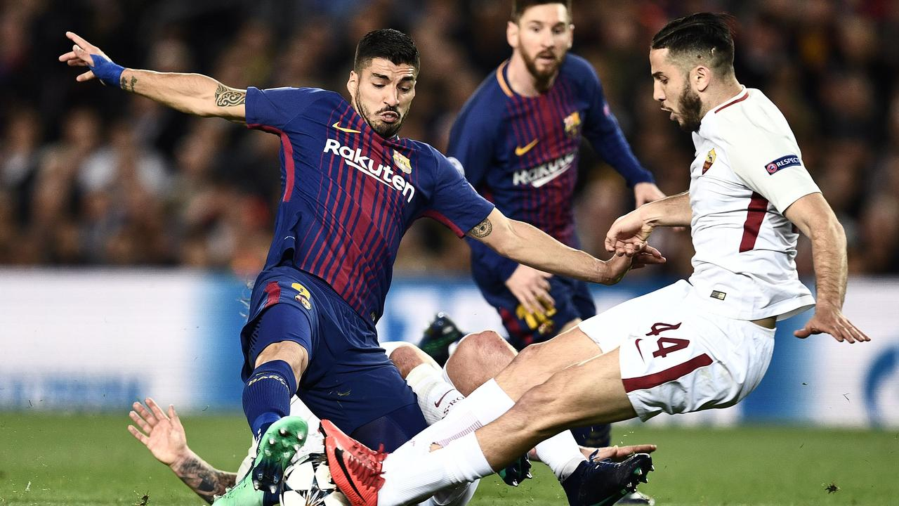 Samenvatting FC Barcelona-AS Roma (4-1)