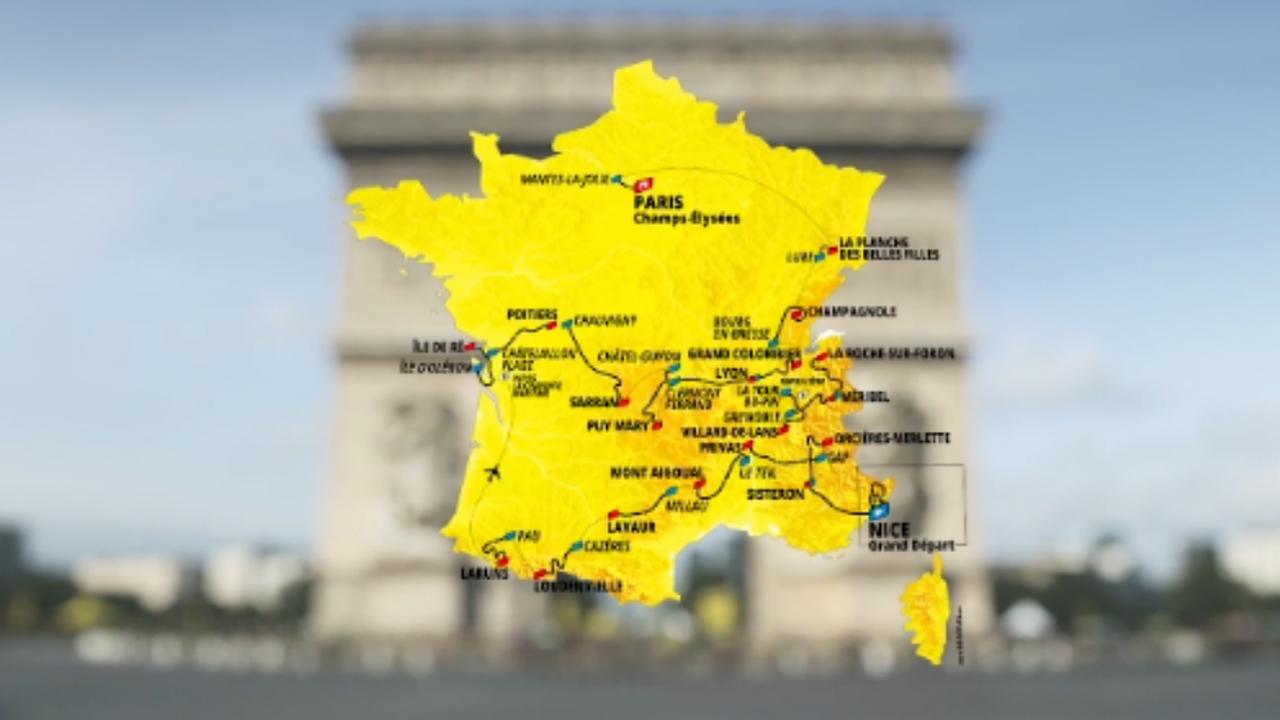 Dit zijn de etappes van de Tour de France in 2020