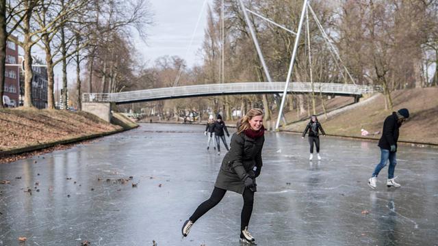 Eerste natuurschaatsbaan van Utrecht open
