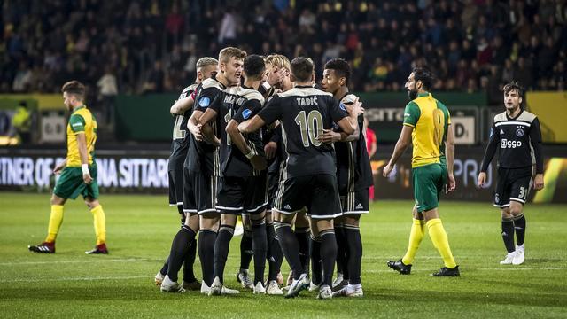 Ajax mede dankzij invaller Dolberg te sterk voor Fortuna Sittard