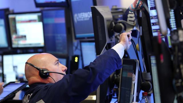 Kalm Wall Street kleurt lichtgroen