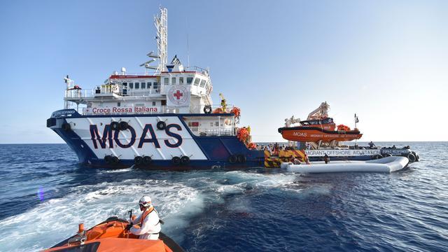 Italiaanse kustwacht redt circa duizend migranten