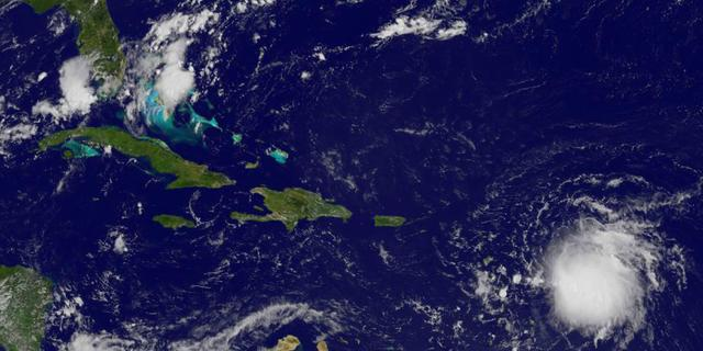 Doden op Dominica door storm Erika