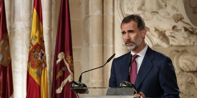 Spaanse koning Felipe verwijt Catalaanse leiders 'onverantwoord gedrag'