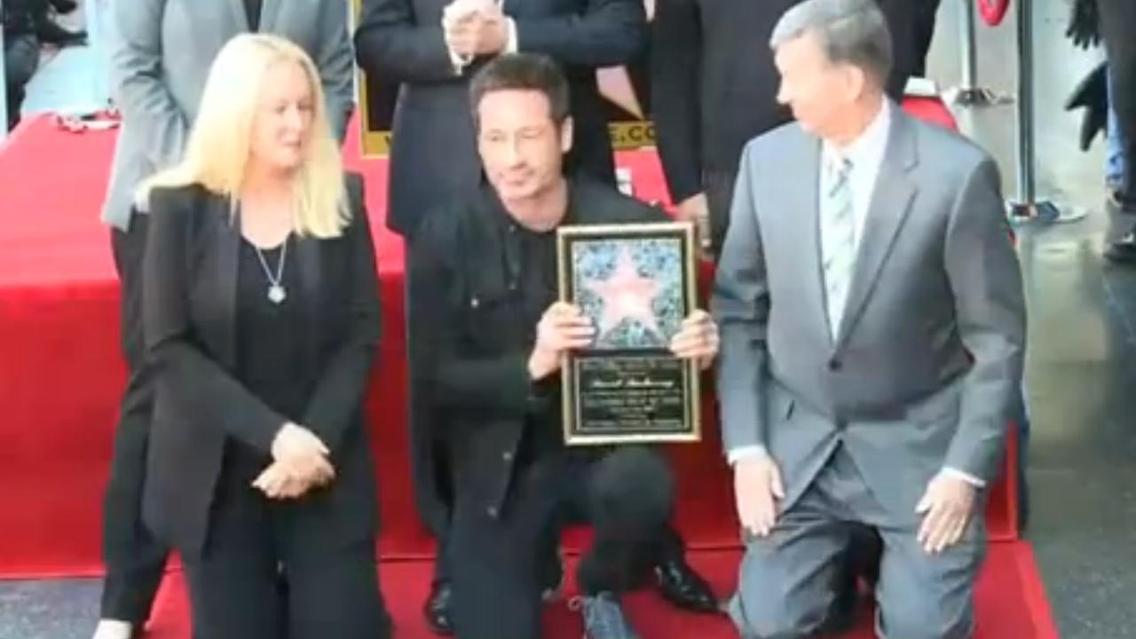 David Duchovny krijgt ster op Walk of Fame