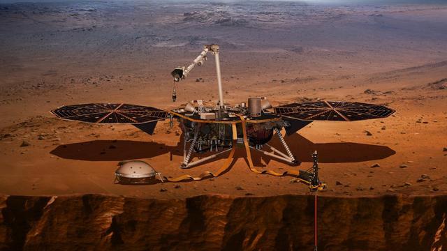 NASA's InSight-missie succesvol geland op Mars