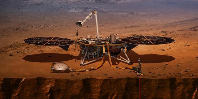 NASA's InSight deed mogelijk eerste waarneming van beving op Mars