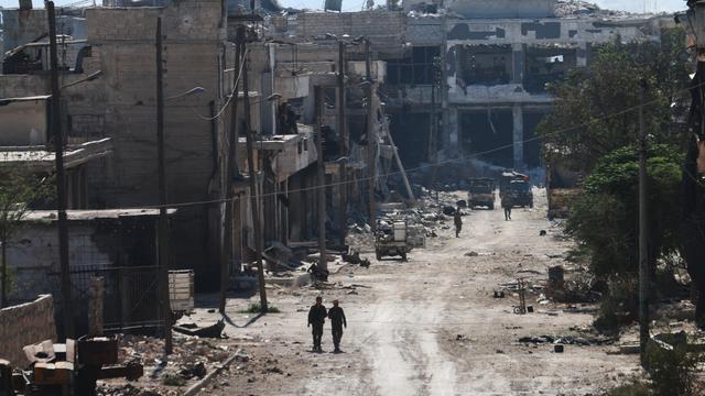 Vrachtwagens met hulpgoederen mogen Aleppo niet in