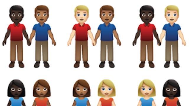 Emoji-raad overweegt 55 emoji-koppels met meerdere huidskleuren en genders