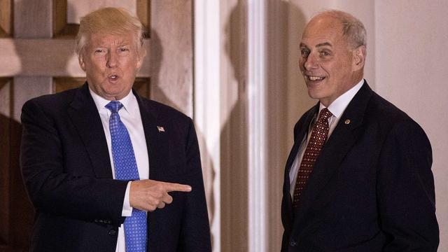 Trump stelt oud-generaal Kelly aan als minister van Binnenlandse Veiligheid