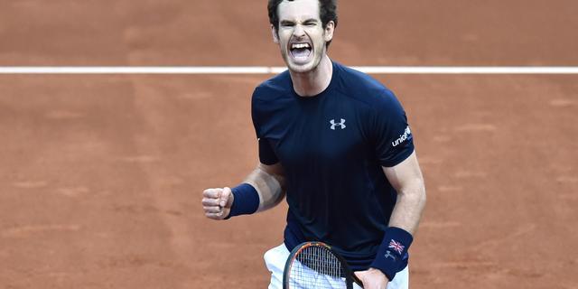 Murray brengt Groot-Brittannië naast België in Davis Cup-finale