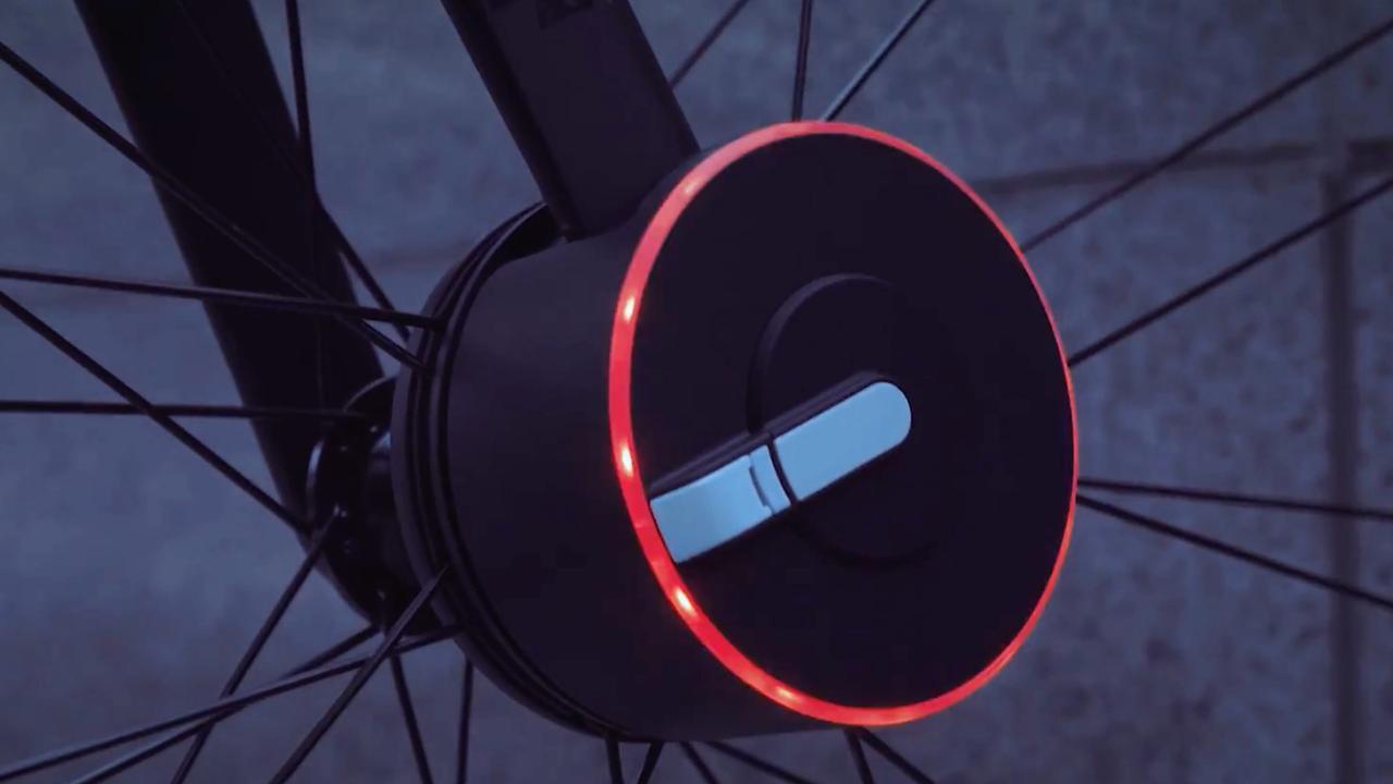 Slim fietsslot sluit automatisch als gebruiker wegloopt