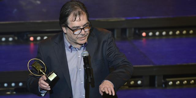 Ere-Zilveren Reissmicrofoon gewonnen door Peter van Bruggen