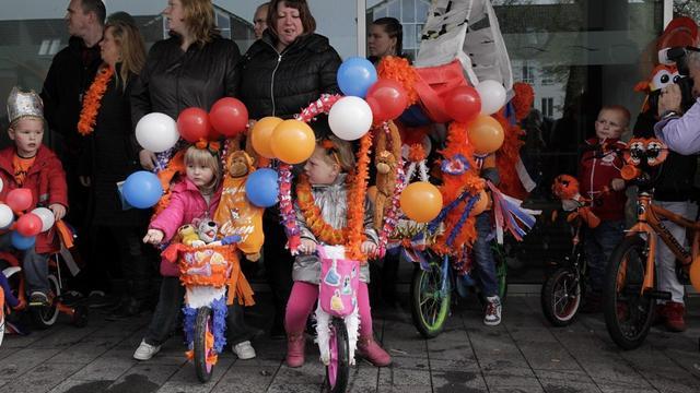 Veel versierde fietsen op Koningsdag in Woensdrecht