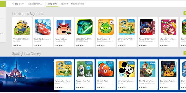 Kindvriendelijke sectie toegevoegd aan Google Play Store