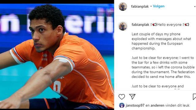 Het Instagram-bericht van Fabian Plak.