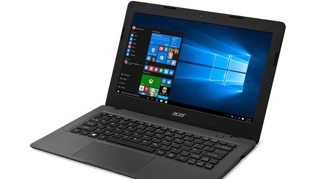 Acer komt met twee goedkope Windows 10-laptops