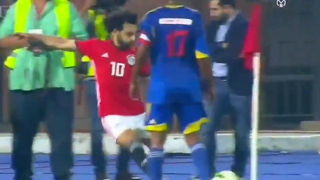 Salah krult corner in doel bij kwalificatie Afrika Cup