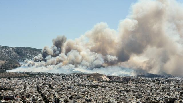 Dode door hevige bosbranden in Griekenland