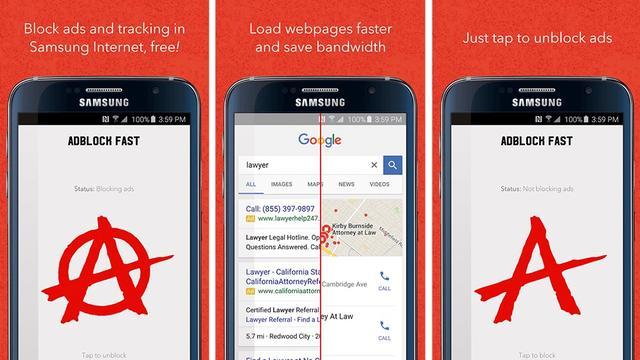 Ook Samsung staat adblockers toe in mobiele browser