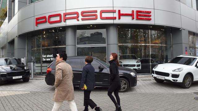 Porsche verkoopt meer auto's in eerste drie kwartalen van 2017